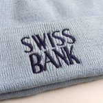 画像2: SWISS BANK [スイス バンク] SWISS BANK LOGO BEANIE B.BLUE (2)