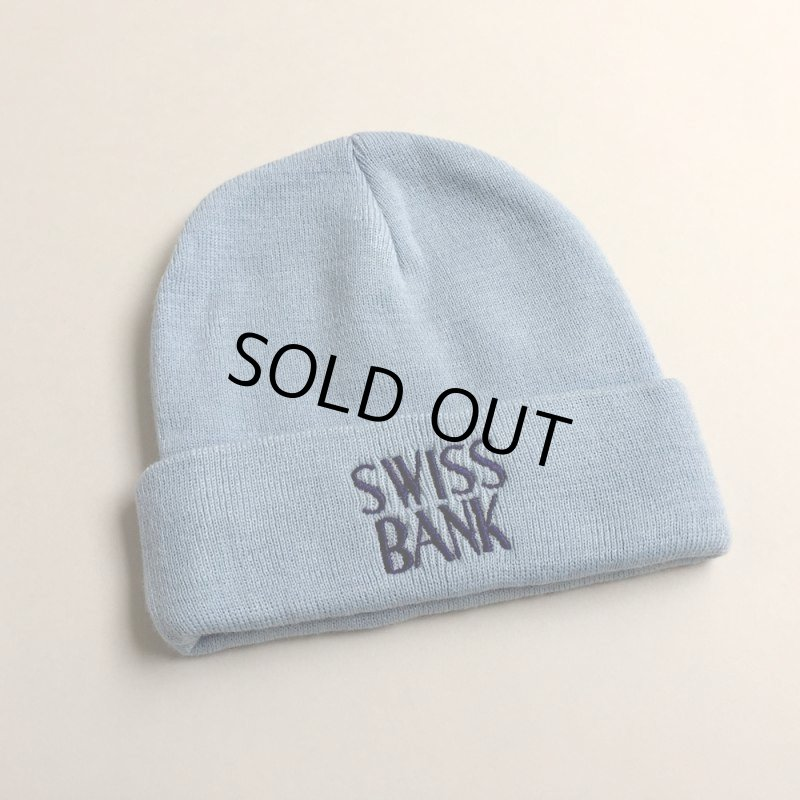 画像1: SWISS BANK [スイス バンク] SWISS BANK LOGO BEANIE B.BLUE (1)