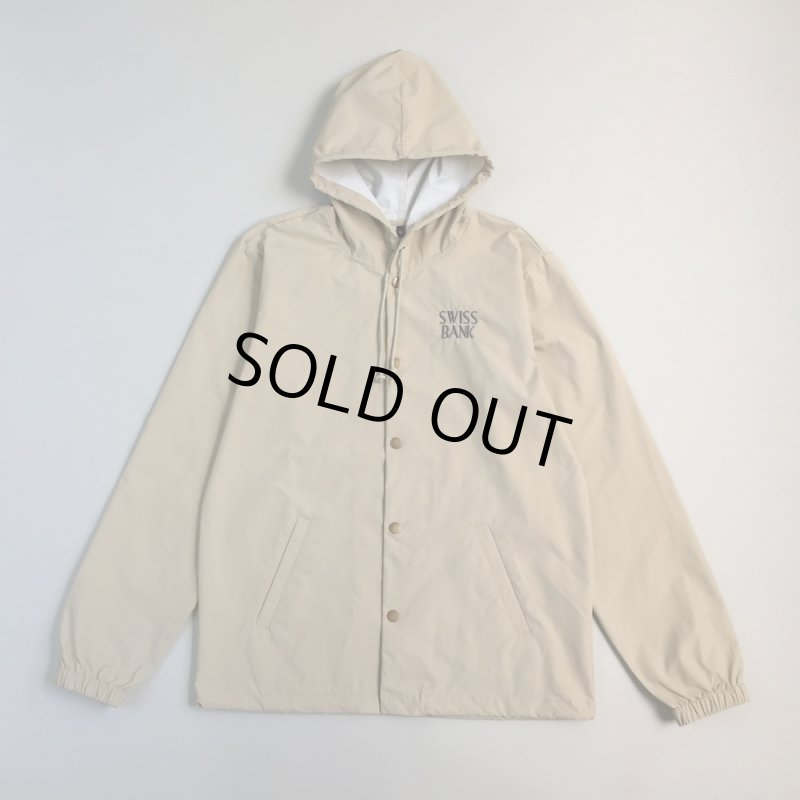 画像1: SWISS BANK [スイス バンク] HEAVYWEIGHT WINDBREAKER KHAKI (1)