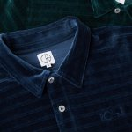 "画像3: POLAR SKATE CO. ""VELOUR POLO SHIRT"" - DARK GREEN (3)"
