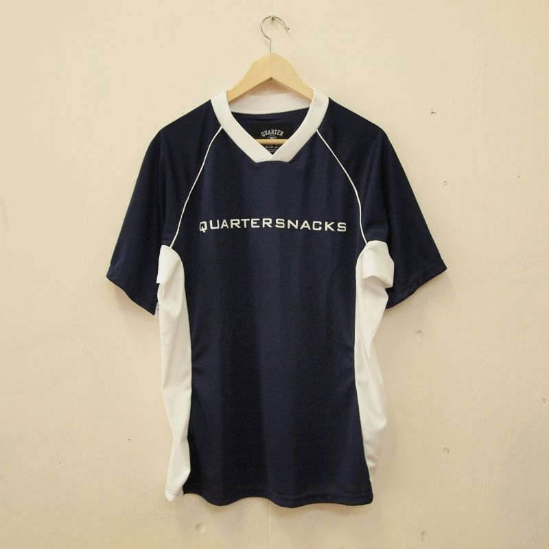 画像1: QUARTERSNACKS / Institute Soccer Jersey - Navy (1)