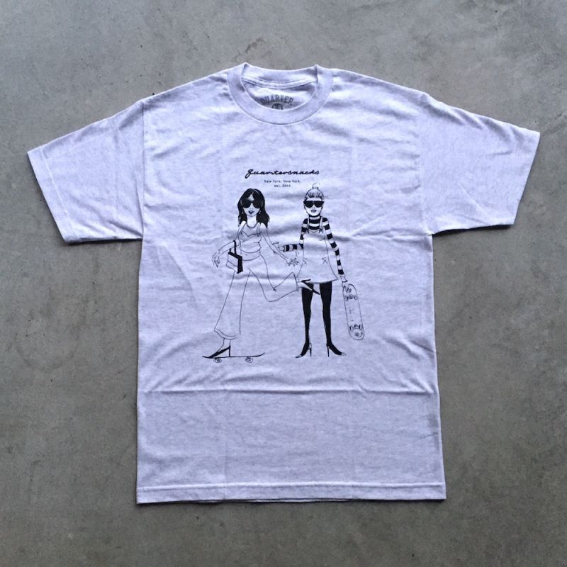 画像1: QUARTERSNACKS /Fashion Tee - Ash (1)