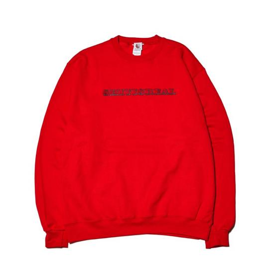 画像1: HELLRAZOR [ヘルレイザー] SHIT IS REAL CREW SWEAT RED (1)