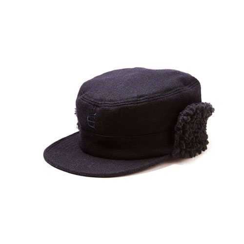 画像1: EVISEN [エビセン] × GACIOUS WOOL WORK CAP BLACK (1)