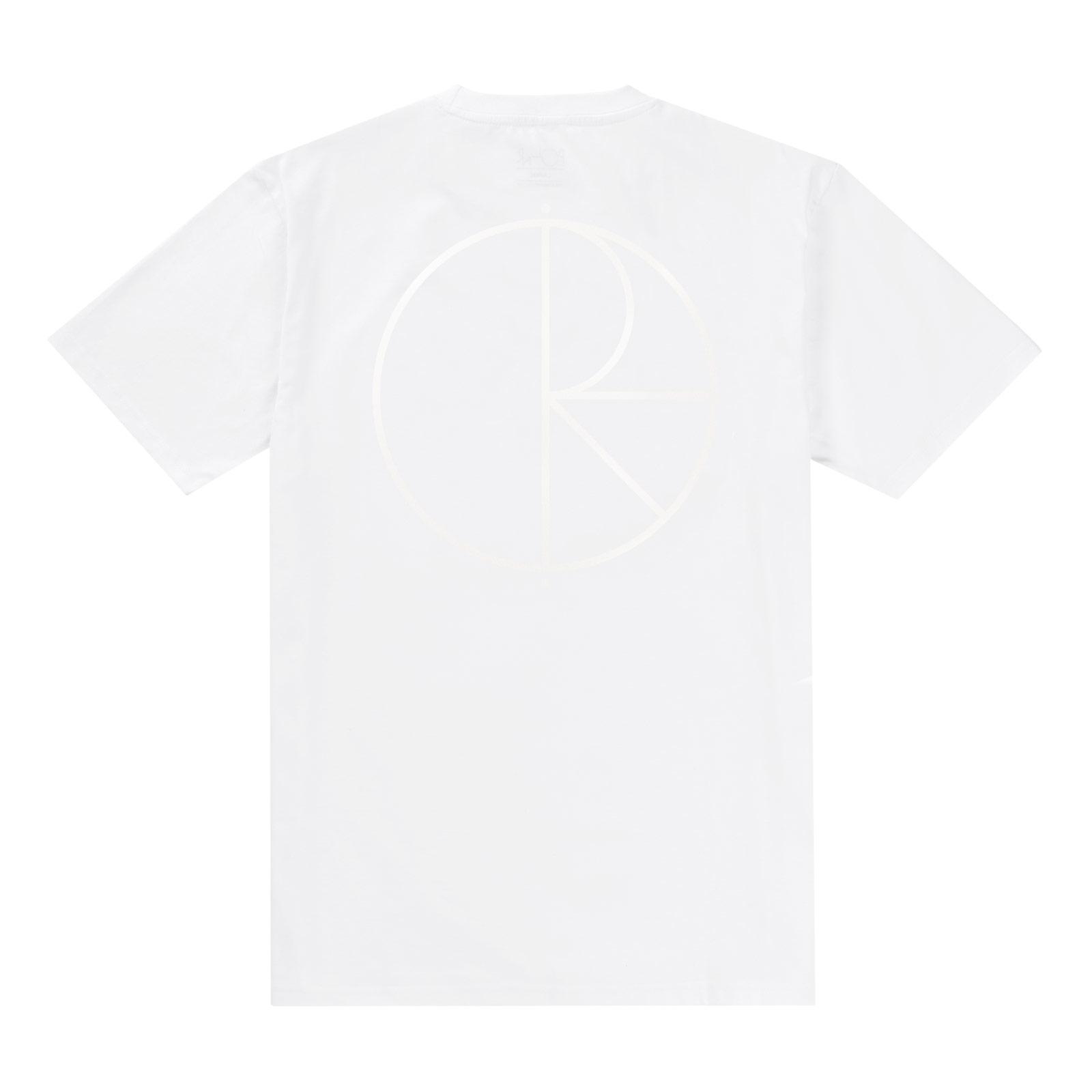 画像1: POLAR [ポーラースケート]  Reflective storoke logo tee White/White(LOLA QUICK STRIKE) (1)
