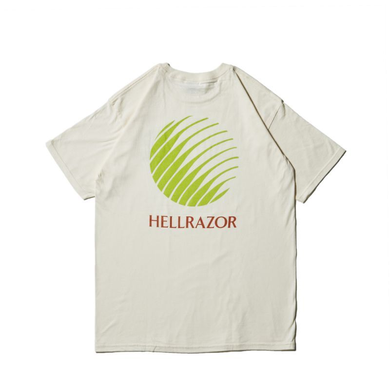 画像1: Hellrazor / Logo Shirt - Cream (1)