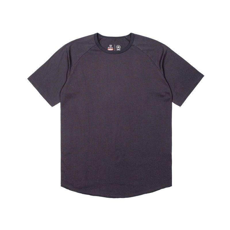 画像1: BRIXTON / BASIC short sleeve BASEBALL TEE - WASHED BLACK (1)
