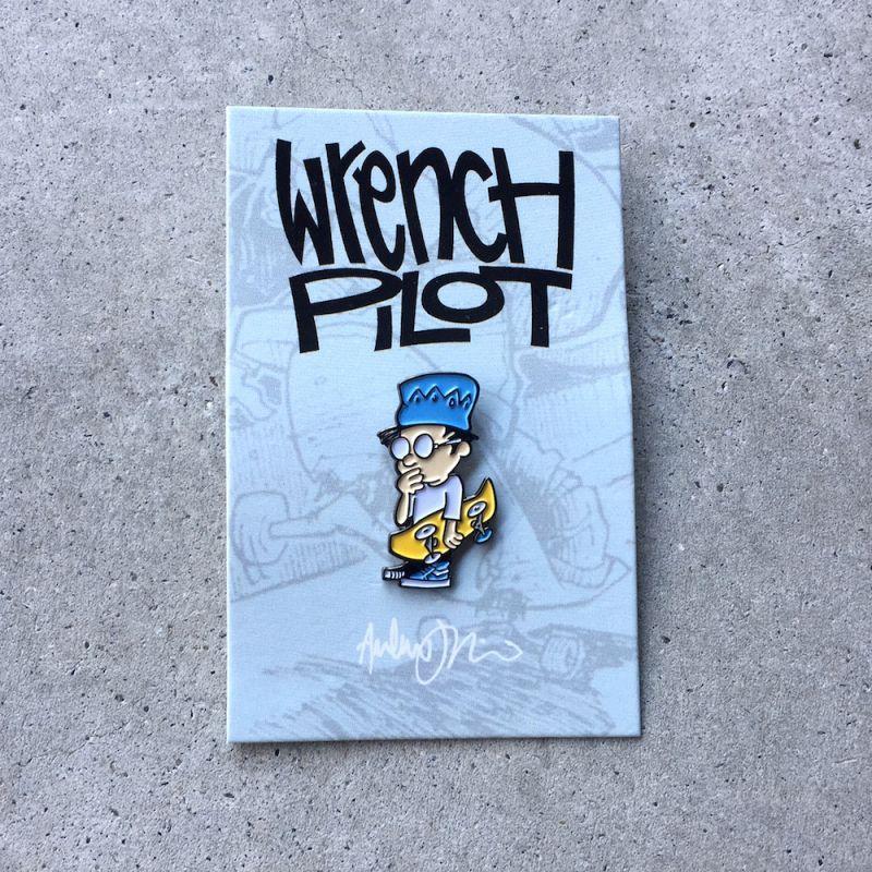 """画像1: BEND PRESS """"WRENCH PILOT LETTUS BEE PIN2"""" (1)"""