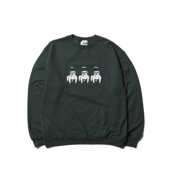 画像1: HELLRAZOR [ヘルレイザー]  Never Change Til We Die Crewneck Sweater  Forest (1)