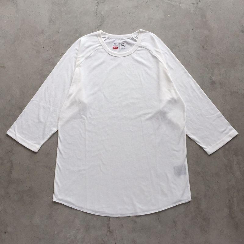 画像1: BRIXTON [ブリクストン] BASIC BASEBALL SLEEVE TEE OFF WHITE (1)