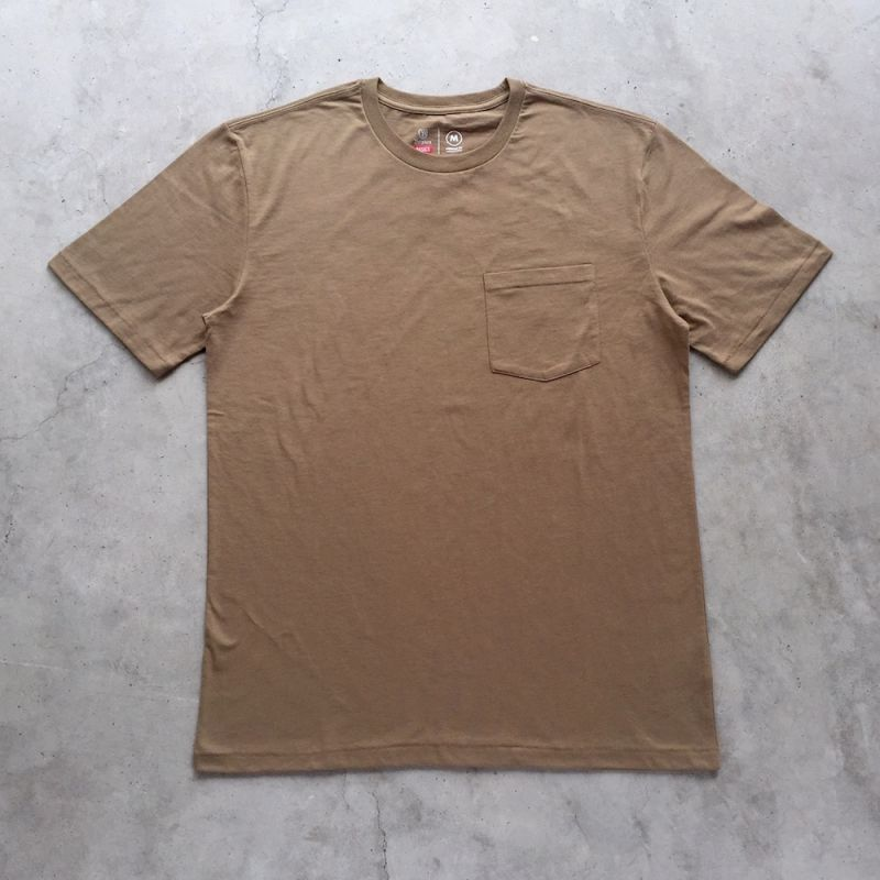 画像1: BRIXTON / BASIC POCKET TEE - DUSTY OLIVE (1)
