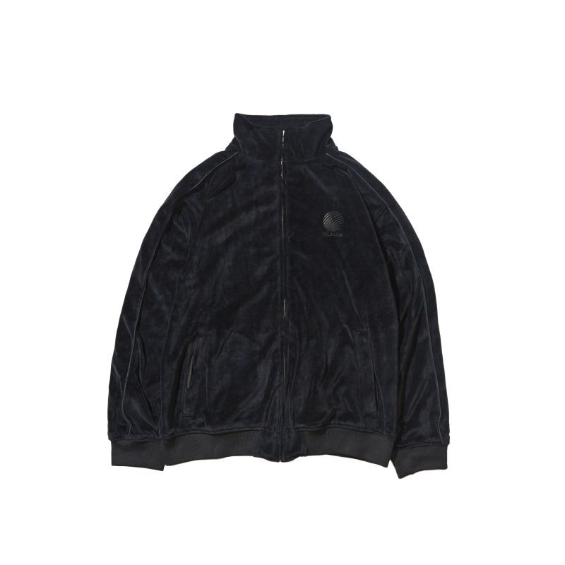 画像1: 【FINAL SALE】HELLRAZOR [ヘルレイザー] LOGO VELOUR JACKET BLACK (1)