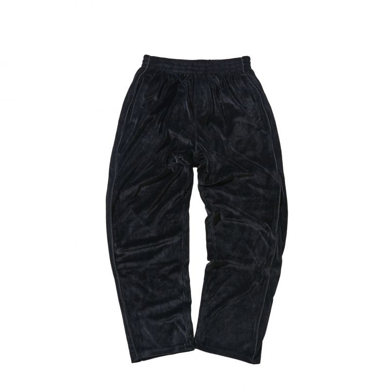 画像1: HELLRAZOR [ヘルレイザー] Logo Velour Pants Black (1)