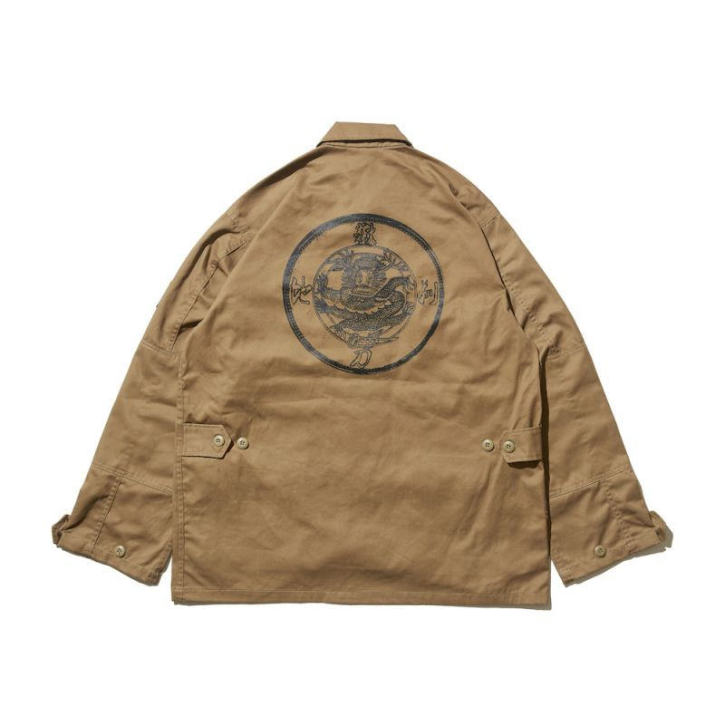 "画像1: HELLRAZOR ""地獄剃刀 BDU JACKET"" - COYOTE BROWN (1)"