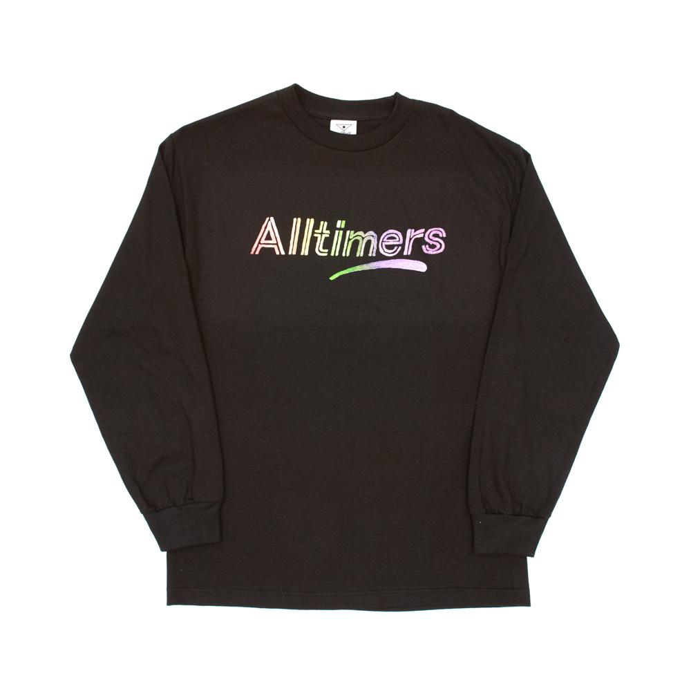 "画像1: ALLTIMERS ""RAINBOW WATERCOLOR LONGSLEEVE TEE"" - BLACK (1)"