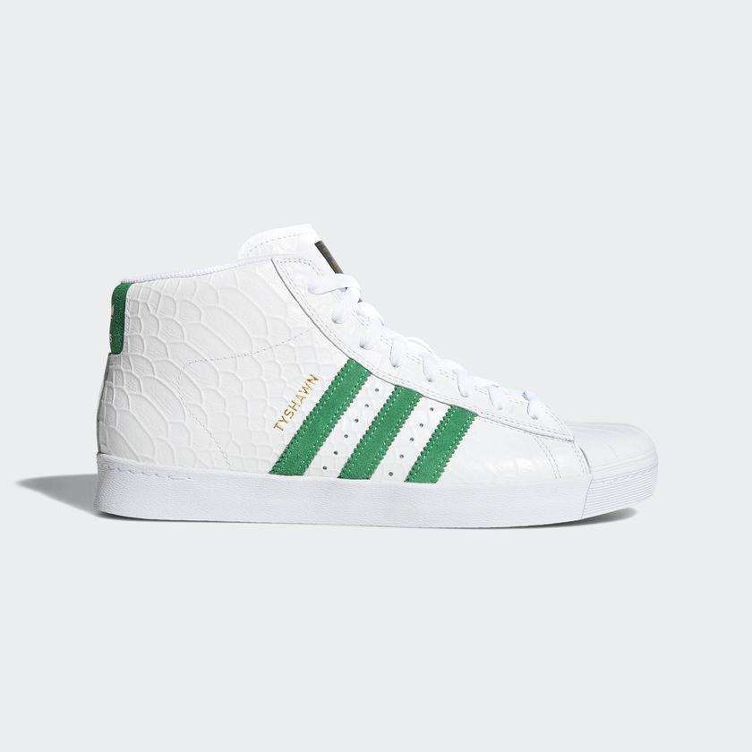 """画像1: 【SALE 20%OFF】 adidas skateboarding """"PRO MODEL VULC ADV SHOES'' - WHITE/GREEN/RUNNING WHITE CG4274 (1)"""