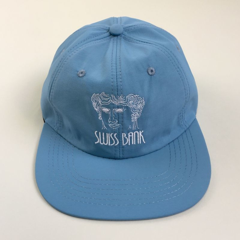 画像1: SWISS BANK [スイス バンク] GODDESS 6PANEL NYLON CAP L.BLUE (1)