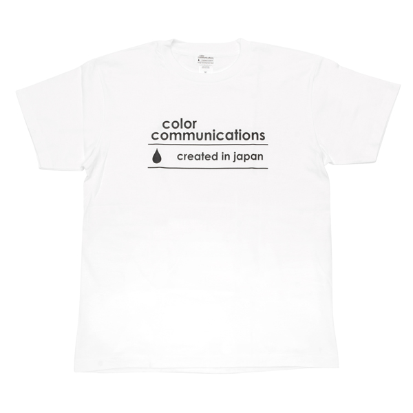 """画像1: COLOR COMMUNICATIONS""""CREATED IN JAPAN LOGO""""-WHITE (1)"""