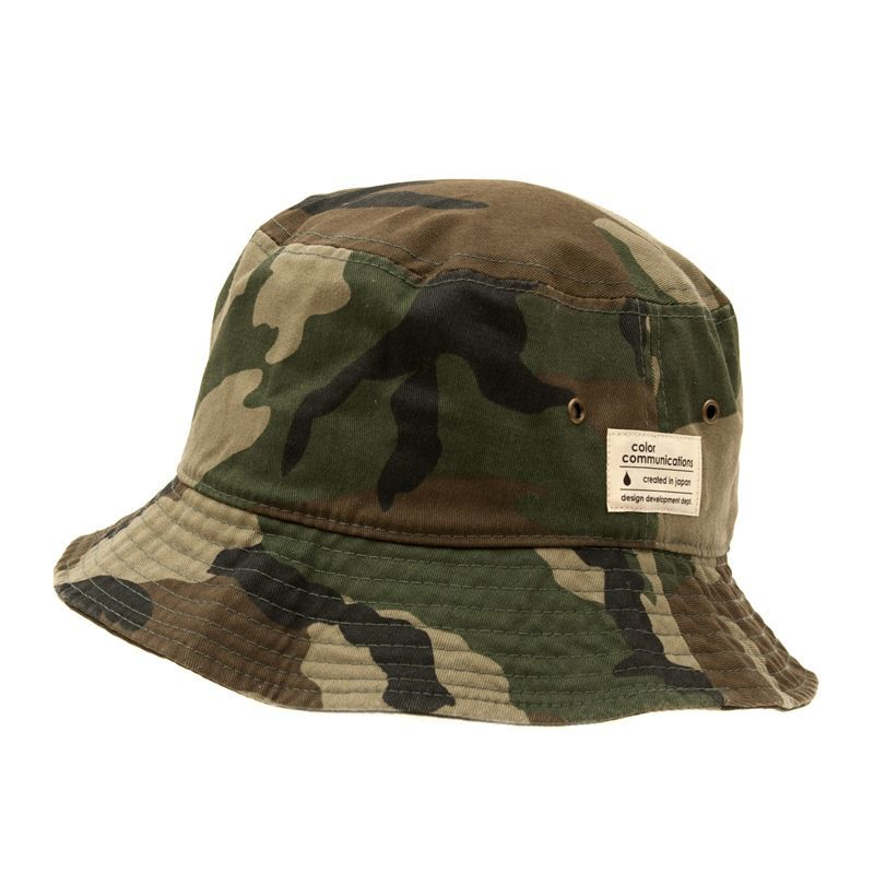 "画像1: COLOR COMMUNICATIONS""COTTON TAG BUCKE""-WOODLAND CAMO (1)"