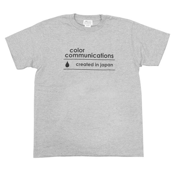 """画像1: COLOR COMMUNICATIONS""""CREATED IN JAPAN LOGO""""-H GREY (1)"""