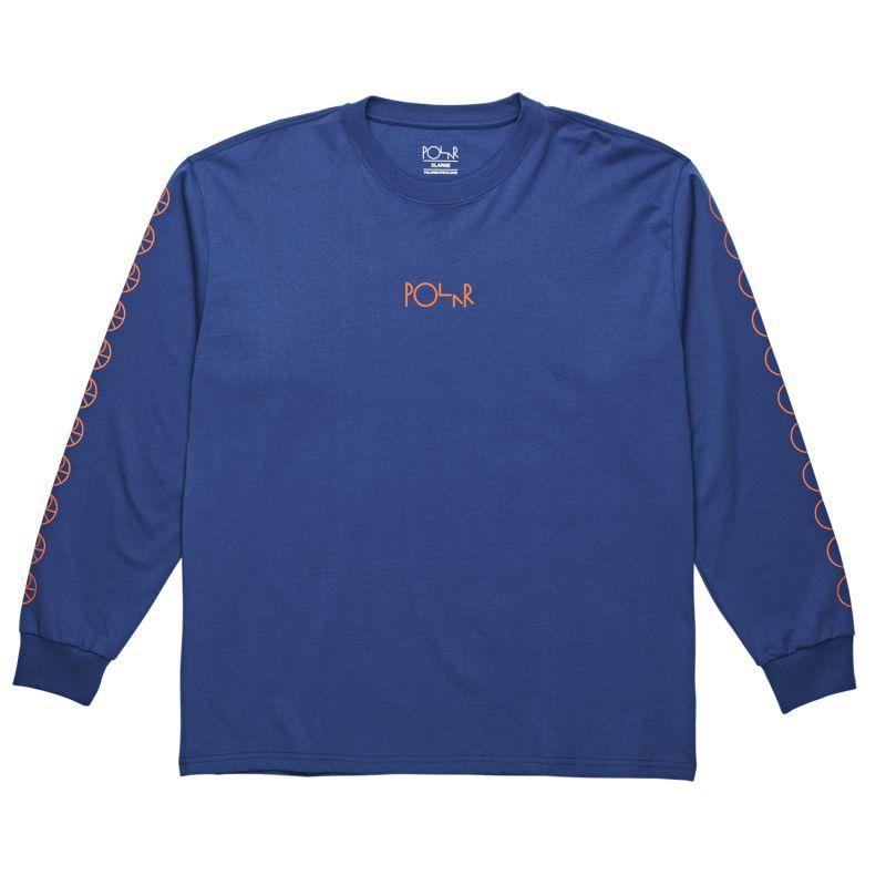 画像1: POLAR SKATE CO.[ポーラースケート] RACING  Longsleeve 80's BLUE (1)