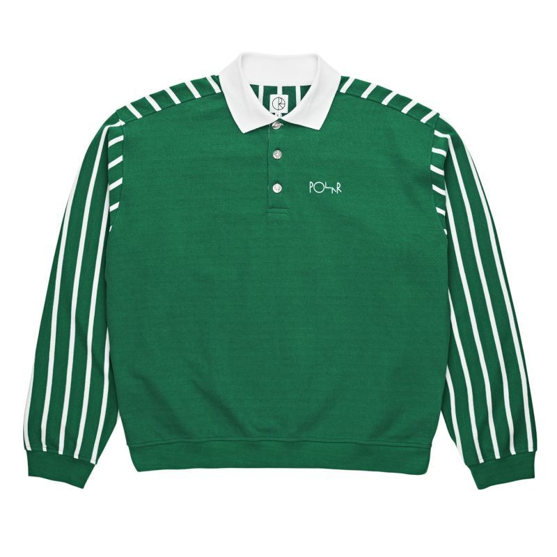 "画像1: POLAR SKATE CO. ""DUO PIQUE SHIRT"" - GREEN (1)"