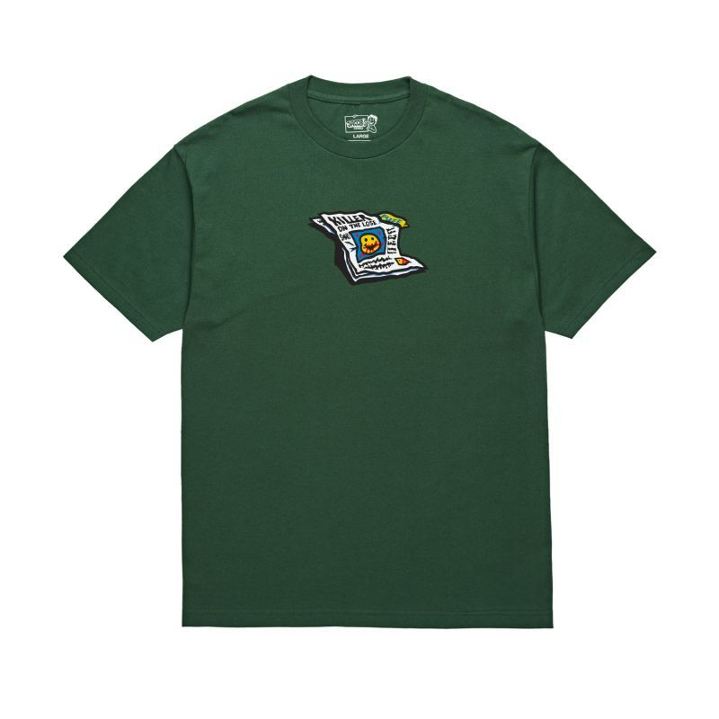 "画像1: POLAR SKATE CO. ""PUFF TEE"" - FOREST GREEN (1)"