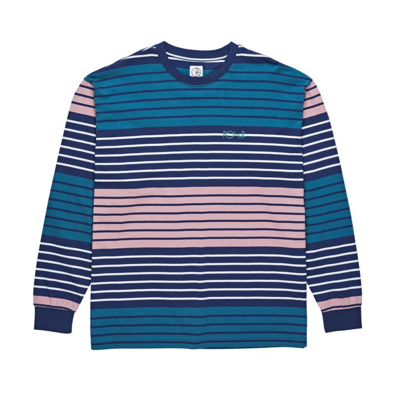 "画像1: POLAR SKATE CO. ""MULTI COLOUR Longsleeve"" - NAVY/PINK (1)"