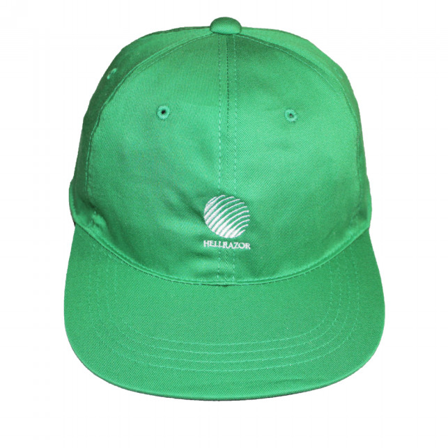 "画像1: HELLRAZOR ""LOGO 6PANEL CAP"" - GREEN (1)"