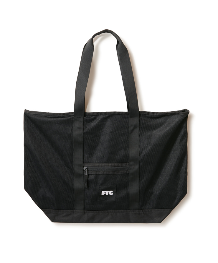 画像1: FTC [エフティーシー]  PACKABLE MESH TOTE BAG  BLACK (1)