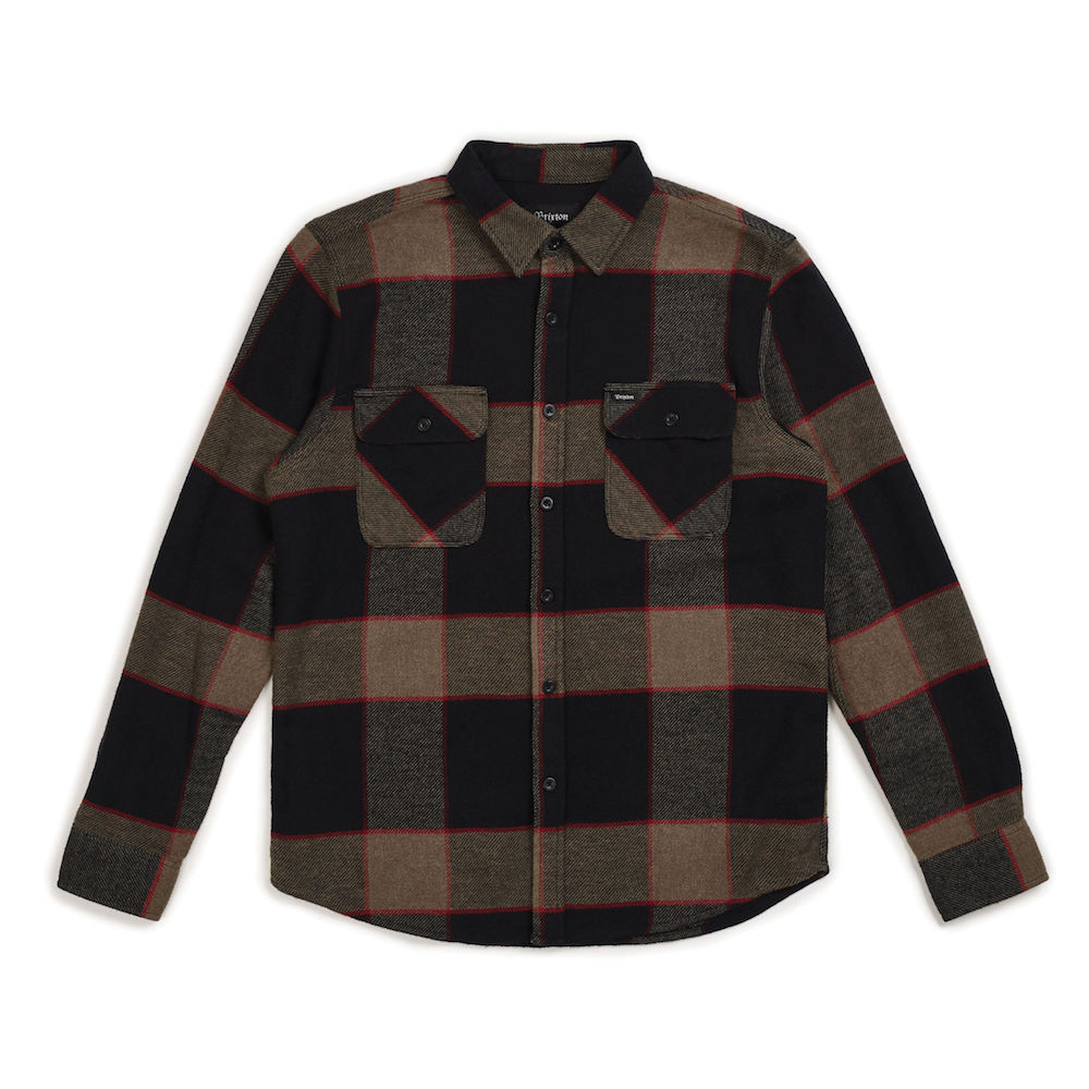 画像1: BRIXTON [ブリクストン]  BOWERY L/S FLANNEL HEATHER GREY/CHARCOAL (1)
