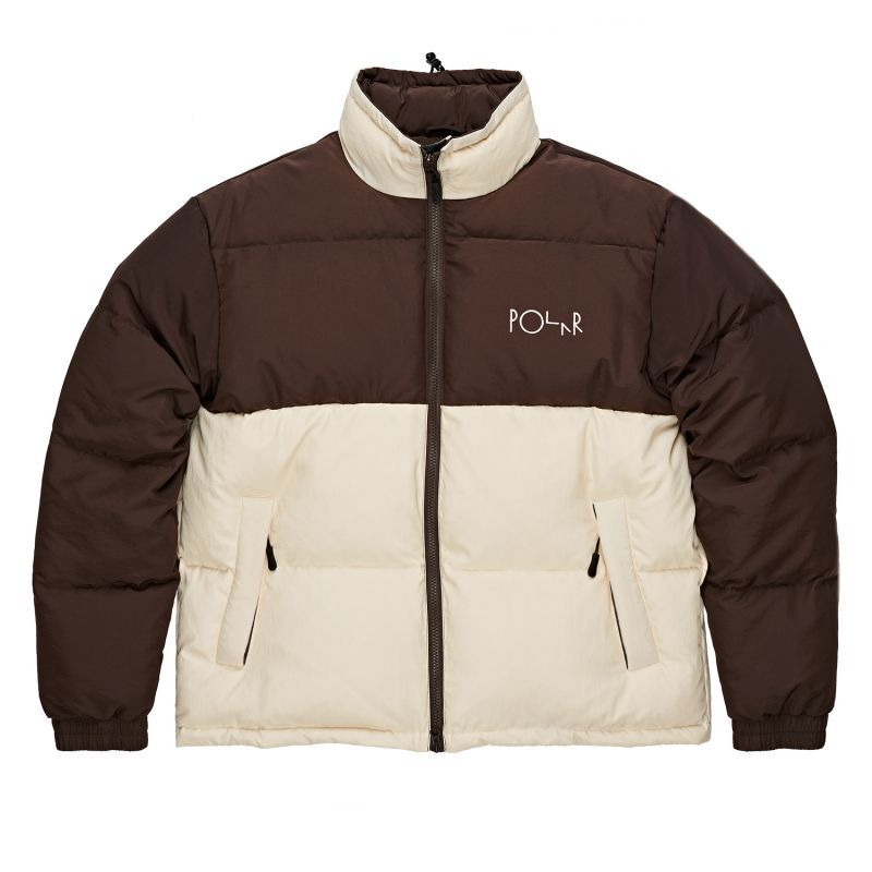 "画像1: 【SALE】POLAR SKATE CO. 'COMBO PUFFER""-BROWN/CREAM (1)"