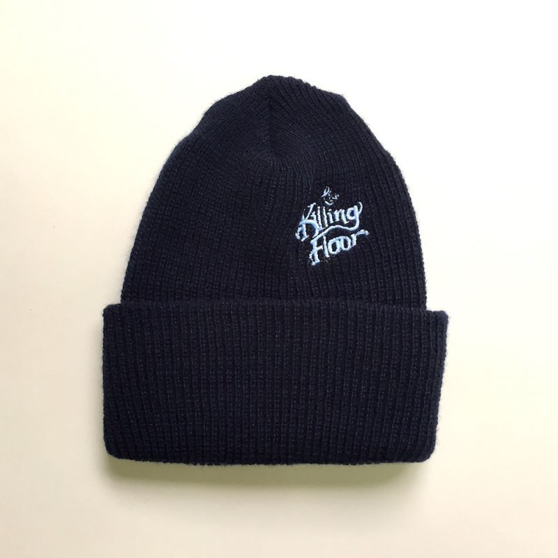 "画像1: THE KILLING FLOOR ""LOGO EMBROIDERED WATCHCAP BEANIE""- NAVY/POWDER BLUE (1)"