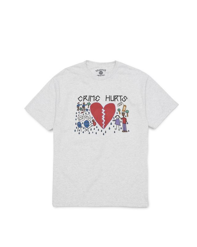 "画像1: QUARTER SNACKS ""FAT KID SPOT MURAL TEE"" - ASH GREY [All Profits Go To Charity] (1)"