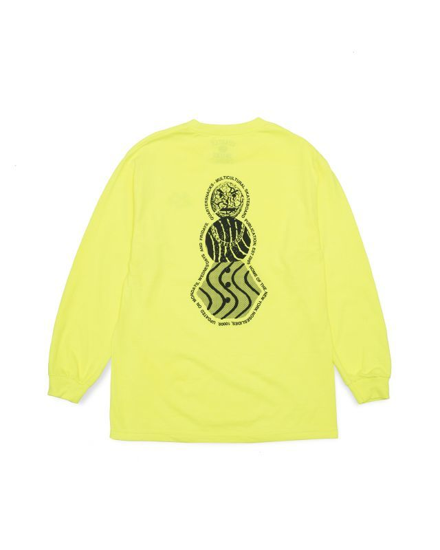 "画像1: QUARTER SNACKS ""SNACKMAN FLYER LS TEE"" - NEON (1)"
