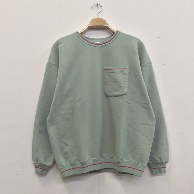 "画像1: COMFORTABLE REASON ""PILE LOOP LINE SWEAT"" - MINT (1)"