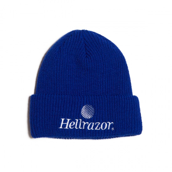 画像1: HELLRAZOR [ヘルレイザー]  TRADEMARK LOGO WATCH CAP ROYAL BLUE (1)