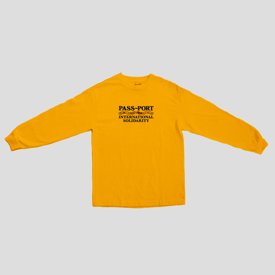 "画像1: PASS〜PORT. ""INTER SOLID L/S TEE"" - GOLD (1)"