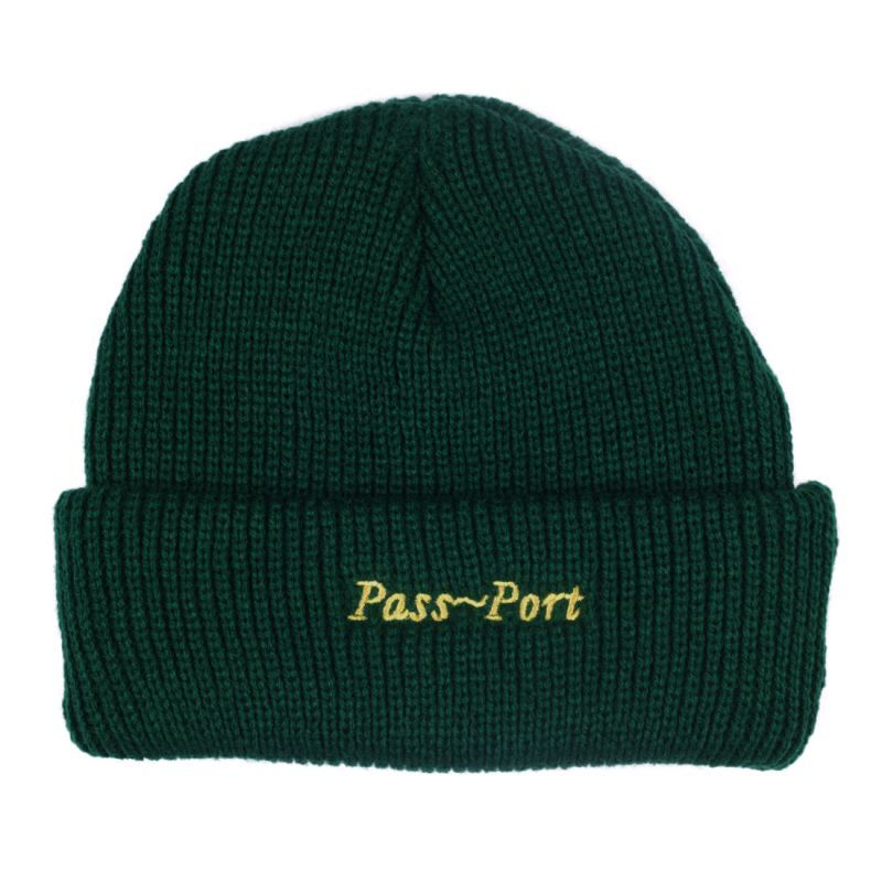 "画像1: PASS〜PORT. ""SCRIPT EMBROIDERY BEANIE"" - FOREST  (1)"