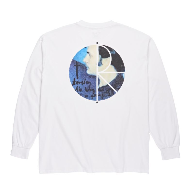 "画像1: POLAR SKATE CO. ""TORSTEN FILL LOGO LS TEE"" - WHITE (1)"