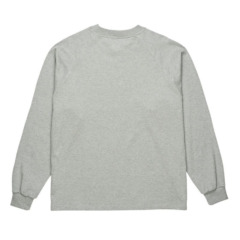 "画像1: POLAR SKATE CO. ""DEFALT LS TEE"" - H.GREY (1)"