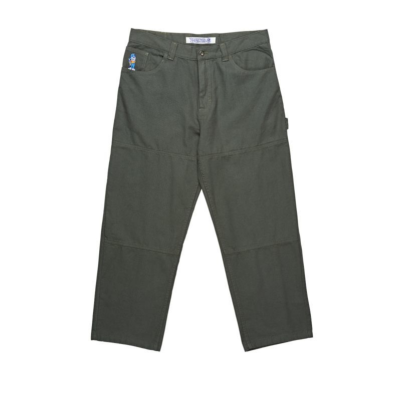 画像1: POLAR SKATE CO.[ポーラースケート] 93 CANVAS PANTS G.GREEN (1)
