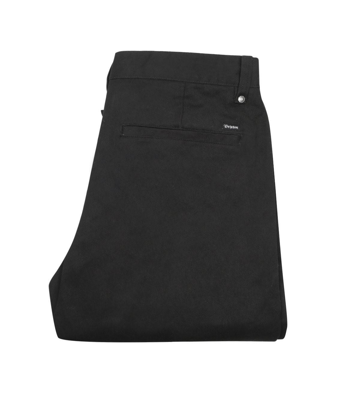 画像1: BRIXTON [ブリクストン]  FLEET RIGID CHINO PANTS BLACK (1)