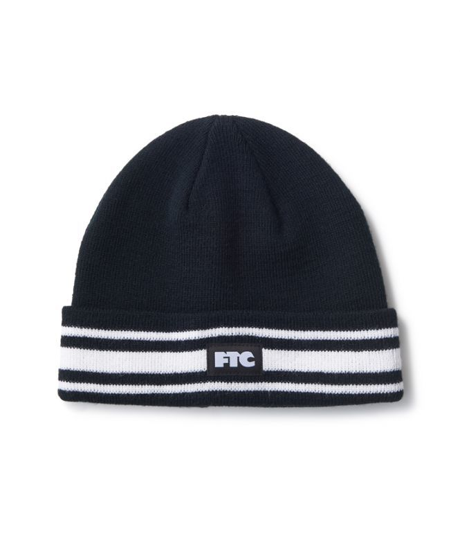 "画像1: FTC ""STRIPED CUFF BEANIE"" - BLACK (1)"