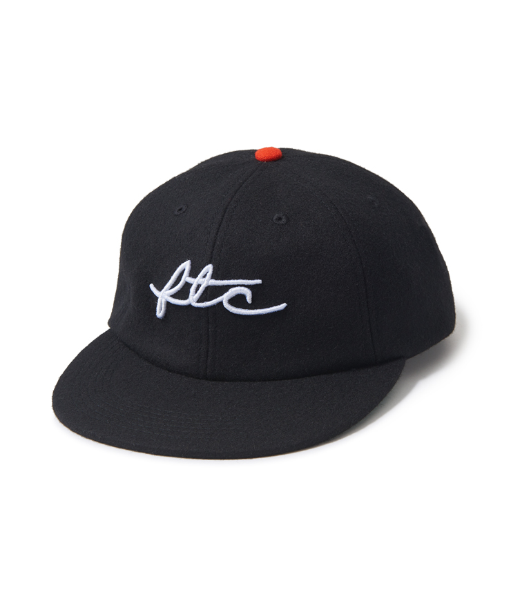 "画像1: FTC ""WOOL VIVA LOGO 6 PANEL"" - BLACK (1)"
