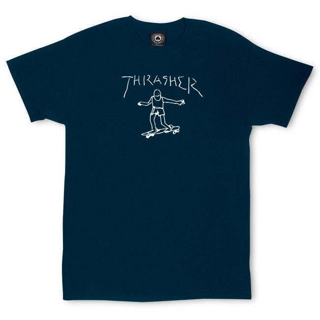 "画像1: THRASHER ""GONZ TEEt By Mark Gonzales"" - NAVY (1)"