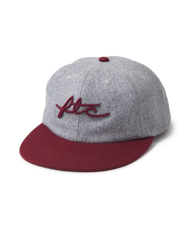 画像1: FTC [エフティーシー] WOOL VIVA LOGO 6 PANEL - GREY (1)