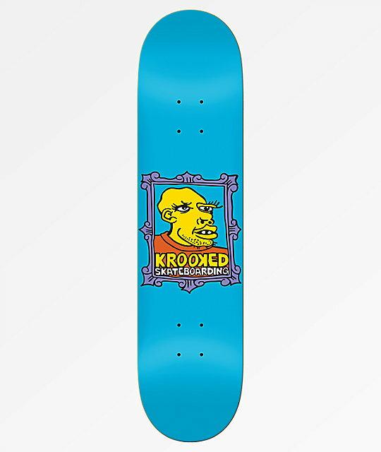 """画像1: KROOKED SKATEBOARDS [クルキッド スケートボード] FRAME FACE - 8.38×32.25"""" (1)"""