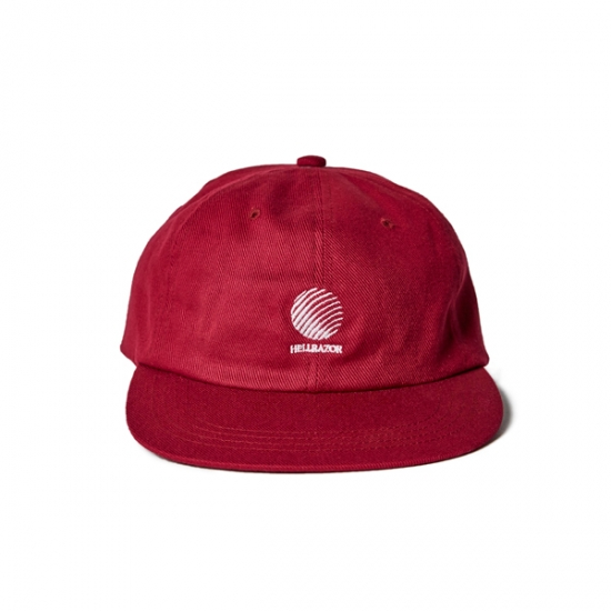"画像1: HELLRAZOR ""LOGO 6PANEL CAP"" - BURGUNDY (1)"
