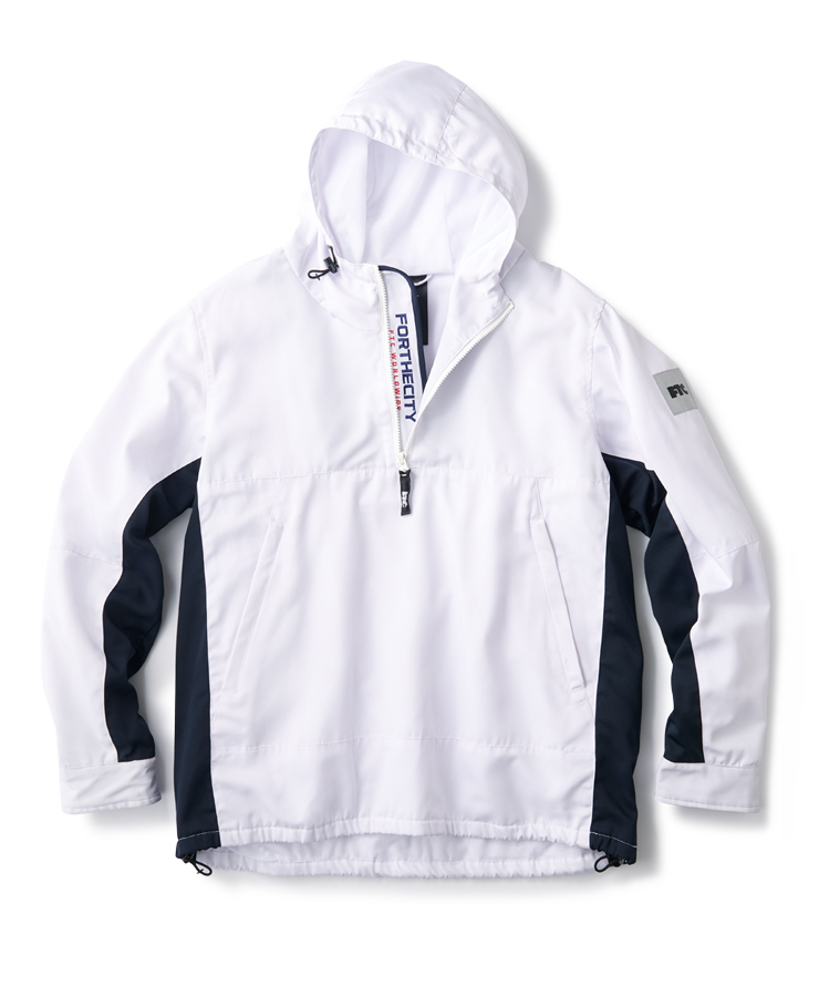 画像1: FTC [エフティーシー] WORLD WIDE ANORAK JACKET-WHITE (1)
